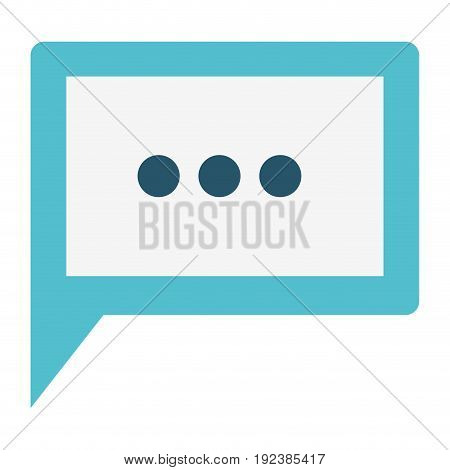 colorful silhouette image of square dialogue in closeup with suspension points vector illustration