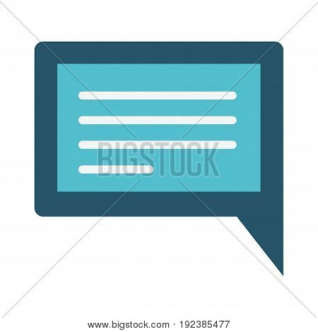 colorful silhouette image of rectangular dialogue in closeup vector illustration