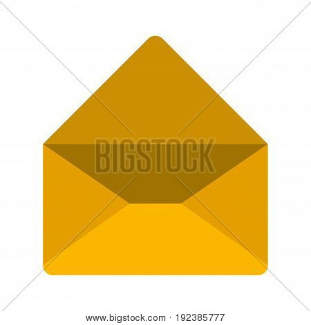 colorful silhouette image of envelope mail opened in closeup vector illustration