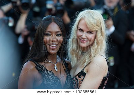 Nikol Kidman, Naomi Campbell attends the 70th Anniversary screening  premiere for at the 70th Festival de Cannes. May 23, 2017 Cannes, France