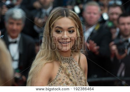 Rita Ora attends the 70th Anniversary screening  premiere for at the 70th Festival de Cannes. May 23, 2017 Cannes, France