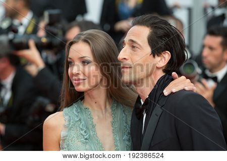 Lara Lieto, Adrien Brody attends the 70th Anniversary screening  premiere for at the 70th Festival de Cannes. May 23, 2017 Cannes, France