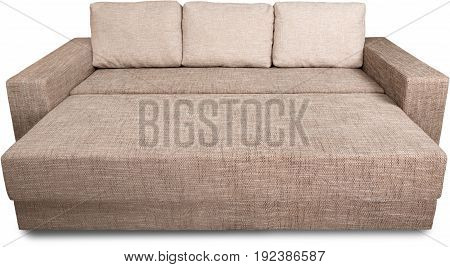 Sofa white background isolated on white leather sofa sofa bed quest room foldable sofa