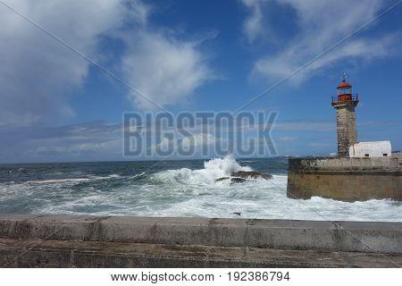 Praia dos Carneiros lighthouse in Porto city