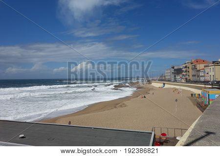 Porto coast image of beach and ocean