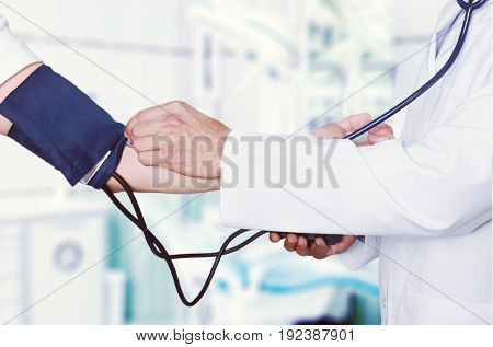 Blood doctor pressure checking blood pressure medical exam medical test