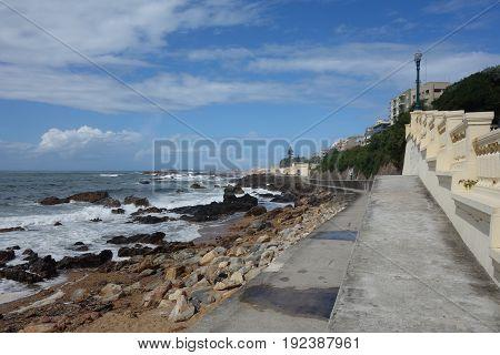 Porto coast image view with ocean waves