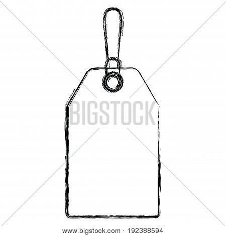 monochrome blurred silhouette of mark label vector illustration