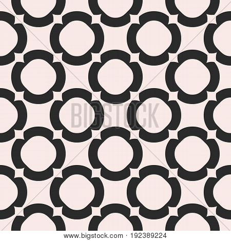 Seamless pattern. Circles background vector, monochrome abstract geometric texture with big rings. Old style fashion. Design pattern, fabric pattern, covers pattern, digital pattern, web pattern, package pattern.