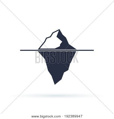 Iceberg vector eps icon isolated on white background. Ice mountain shape