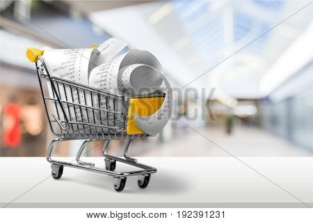 Shopping cart market shop supermarket check numbers