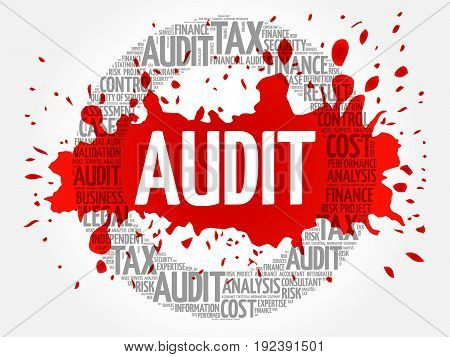 AUDIT word cloud collage, business concept background