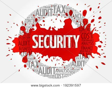 SECURITY word cloud collage , business concept background