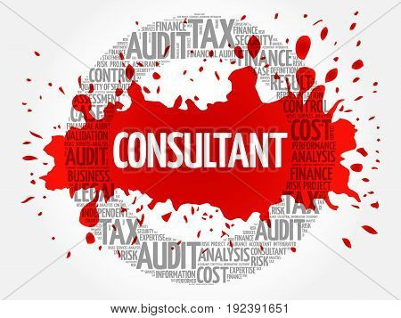 CONSULTANT word cloud collage , business concept