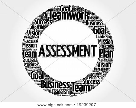 ASSESSMENT word cloud collage business concept background