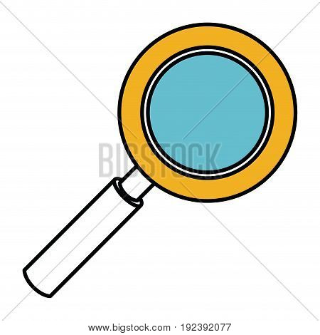 color sections silhouette of magnifying glass vector illustration