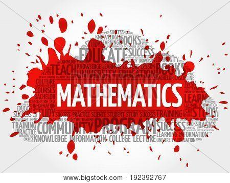Mathematics word cloud collage , education concept