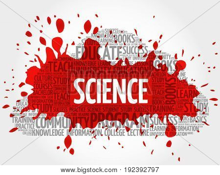 SCIENCE word cloud collage , education concept