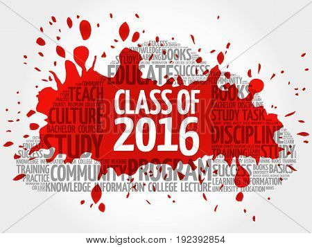 Class Of 2016 Word Cloud Collage