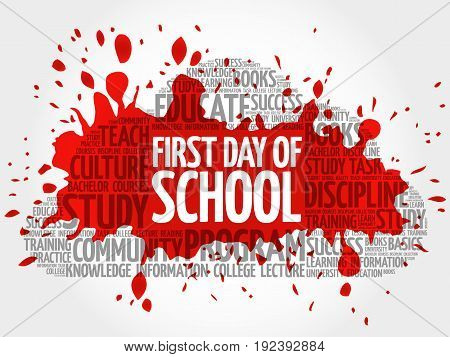 First Day Of School Word Cloud Collage