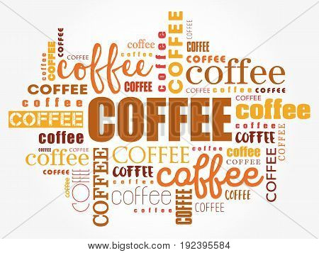 Coffee Words Cloud Collage