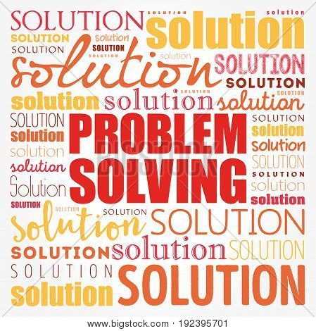 Problem Solving Aid Word Cloud Collage