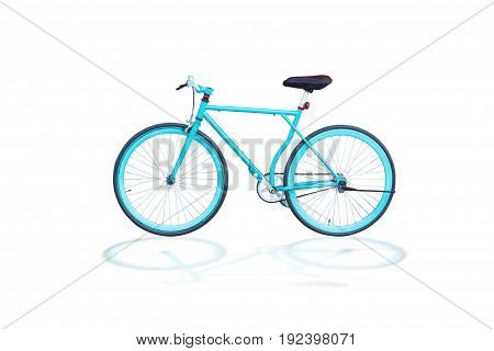 fixed gear bicycle or fixed-wheel bycicle or fixieIt looks and looks like a vintage bycicle.isolated on white background with clipping path.
