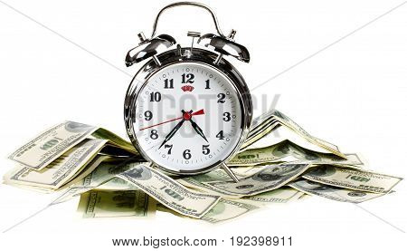 Clock bills alarm alarm clock time is money save time money