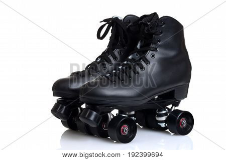 mens quad roller skates on white background