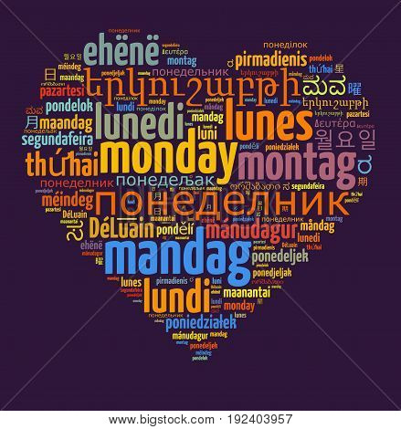 Word Monday In Different Languages