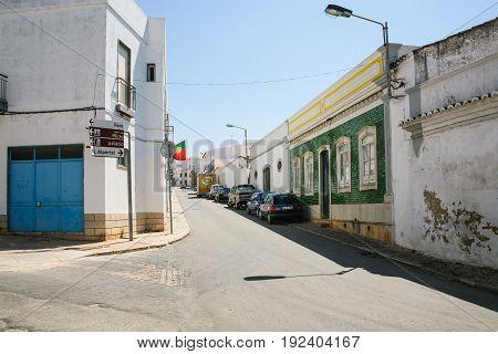 Street Rue Joao De Deus In Estoi Town