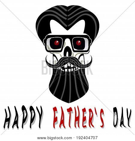 Illustration happy fathers day on white background.
