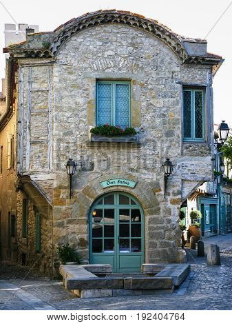 Restaurant In Old House In Medieval Fortress