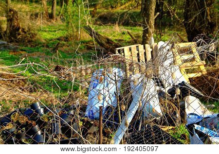 the garbage dump behind the fence , Russia