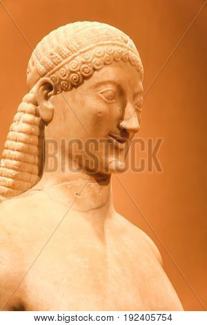 Etruscan Statue In Museum Of Florence