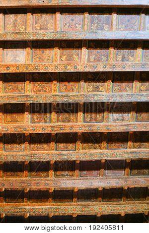 Old Wooden Ceiling In Palazzo Davanzati