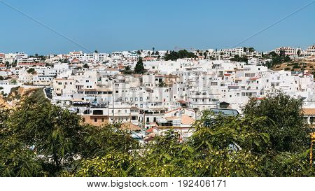 Panoramic View Of Albufeira City From Road