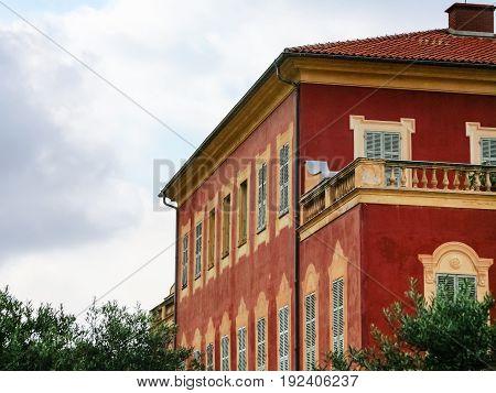 Building Of Musee Matisse (matisse Museum) In Nice