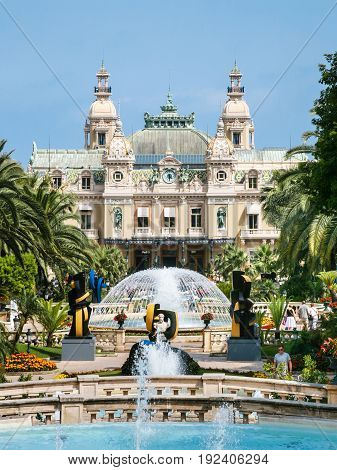 View Of Casino De Monte-carlo In Monaco City
