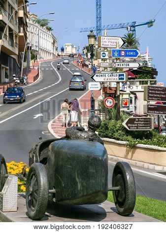 Tourists On Street In Monaco City
