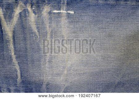 Texture of blue jeans textile background. Denim Texture