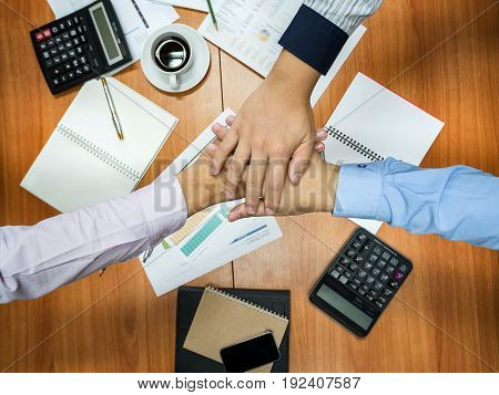 Business Team Teamwork and Partnership, Together Concept.