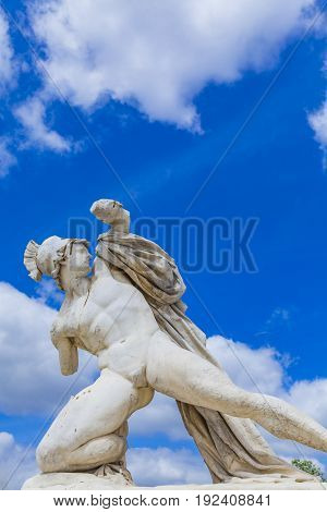 Sculpture Alexandre Combattant At Tuileries Garden In Paris