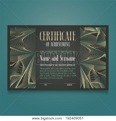 Appreciation certificate vector template illustration. Recognition blank award, diploma for achievement, appreciation as a gift