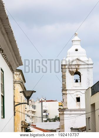 Bell Tower Of Church In Lagos Portugal City