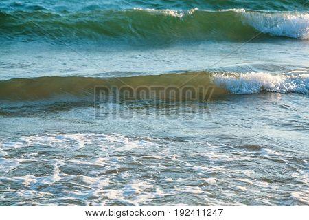 Ocean Surf On Beach Praia Falesia Near Albufeira