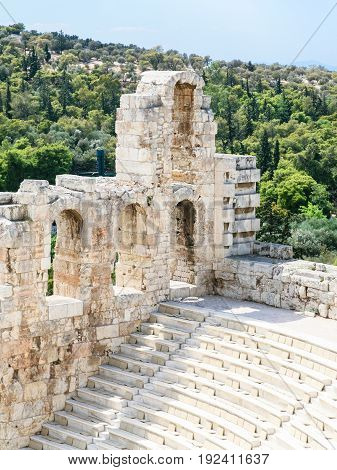 Wall And Seats In Odeon Of Herodes Atticus