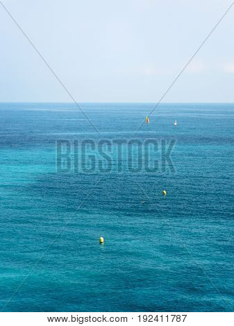 Blue And Green Water Of Mediterranean Sea In Nice