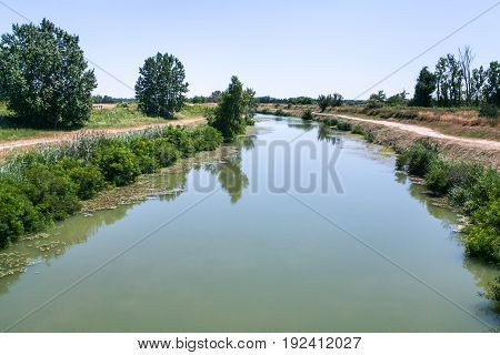 Picturesque Canal D'arles A Fos In France