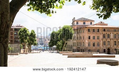 Rue De La Mairie In Marseilles City